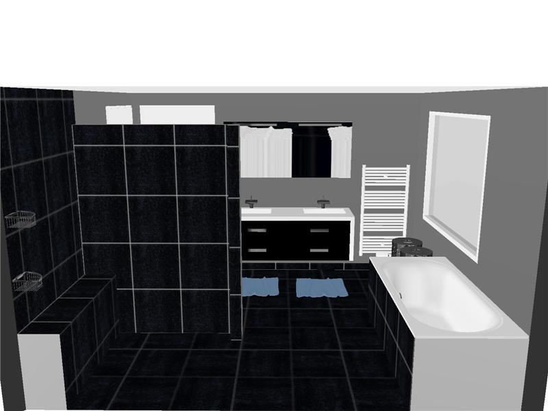 Badkamer Tegels Muur : Moderne badkamer met gestukadoorde muren en ...